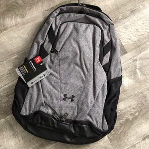 NWT! Under Armour Gray and Black Backpack